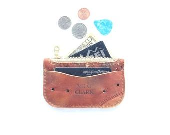 Zip Wallet - Baseball Glove Leather