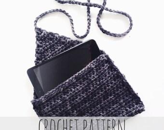PATTERN for Crochet Tablet Case Journal Cover Ipad Flap Pocket // Entre-Nous Tablet Case PATTERN