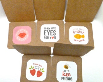 Kid Lunchbox Notes, Lunchbox mini note, Lunch bag Mini Note Set, Sweet mini love notes, pun love note