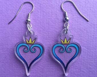 Kingdom Hearts - Acrylic Gamer Earrings - Sora - Riku - Axel - Roxas - FREE SHIPPING