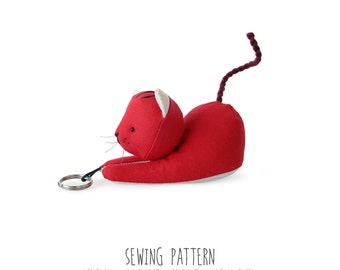 Diy Pattern, Cat Sewing Pattern & Tutorial, Plush Toy Pattern, PDF INSTANT DOWNLOAD, Sewing Diy, Instructions for Sewing, Stuffed Kitten