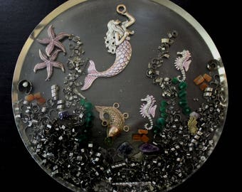 Beautiful Mermaid Under The Sea Orgone Charging Plate
