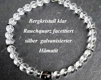 Crystal Quartz necklace Necklace Smoke quartz smokyquartz faceted quartz chain healingstone necklace