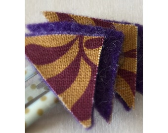 SALE! // Purple/Gold Arrow Hair Clip