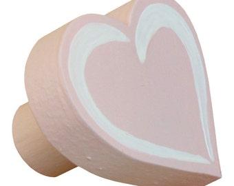 Heart Drawer Knob - Pastel Coral Drawer Pull