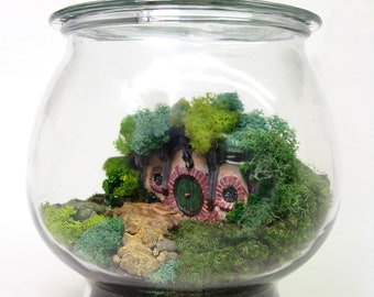 Movie Miniatures: Bag End Hobbit Terrarium, Lord of the Rings