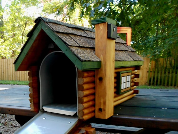 Delicieux Log Cabin Mailbox Handmade Log Home Handcrafted Mailbox Painted Mailbox  Wedding Gift Anniversary Gift