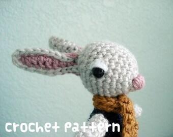 CROCHET PATTERN - Amigurumi Rabbit - PDF Instant Download - Miniature Woodland Toy