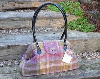 Handbag, Purse, Shoulder Bag, Bespoke Purse, Custom Made Bag, Purse with matching accessories, Wool tweed purse.