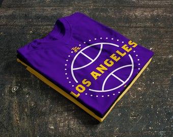Los Angeles Lakers Basketball Fan T-Shirt 50/50 blend (Fan Made)