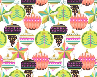 All is Bright Christmas Holiday Fabric Adorn Tree Ornaments