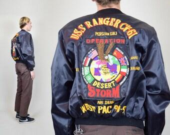 1990s Desert Storm Vintage WEST PAC Tour Jacket