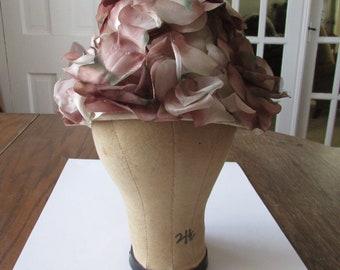 Vintage Fabric Flower Hat Spring Easter