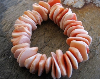 Pink Clam Shell Wafer Beads