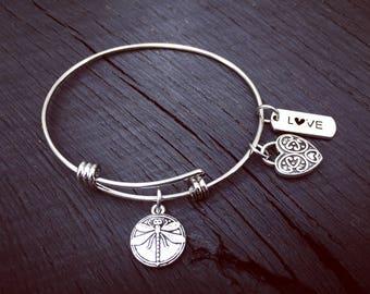 Dragonfly Bracelet | Stackable Bracelet | Stackable Bangle | Expandable Bangle Bracelet | Stainless Steel Bangle Bracelet | Arm Candy