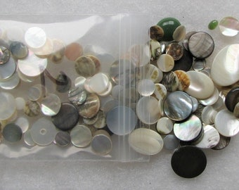 Mother-Of-Pearl Mixed Lot Stones Jewelry Repair/Design 2