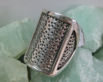 Sterling Silver Heavy Oxidized Band Ring Size 8