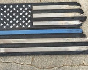 Frayed Old Glory 13X26 - Wooden America flag in 3 different patterns