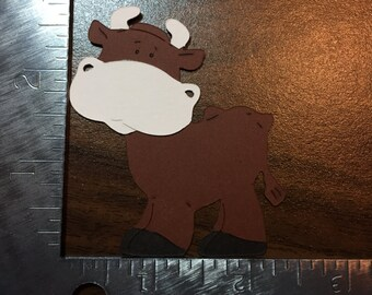 Brown cow - die cut