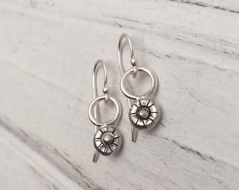Drop Recycled Sterling Silver Earrings #soulfuljewels #132