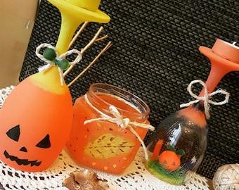 Halloween Pumpkin  Candle Decoration