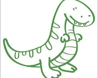 Dinosaur Doodle Decal  4