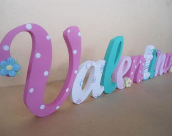 Decorative letters MDF Names wall Candy Bar name