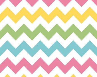SALE-1 yard of Medium Girl Chevron by Riley Blake