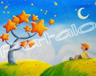 """Reproduction 30 x 20 on canvas """"Star tree"""""""
