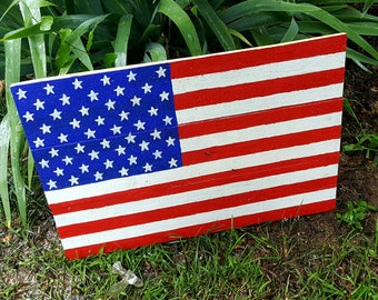 Outdoor 4th Of July Decor American Flag Fourth Veterans Party Pallet