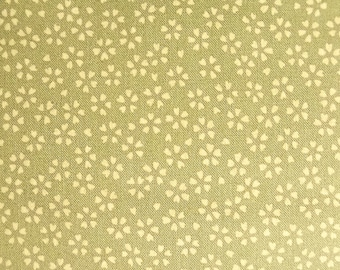 Japanese cotton fabric - 1/2 yard of light green Cherry Blossom