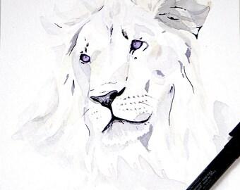 Line Art Lion : Lion painting etsy