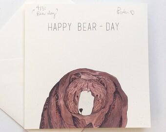 Happy Bearday card