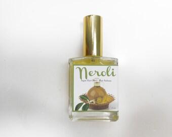 Neroli Perfume - Hair Mist, Argan Hair Milk or Argan Hair Gloss - with Silk Protein, Horsetail Extract and Marshmallow Root - 2oz