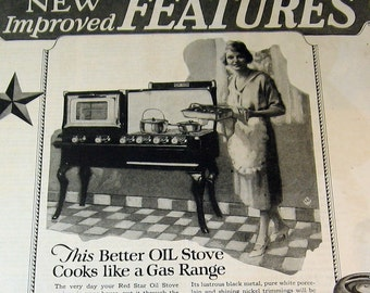 Red Star Oil Stove Vinage Ad