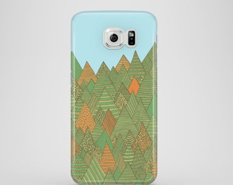 Autumn Forest mobile phone case / Samsung Galaxy S7, Samsung Galaxy S6, Samsung Galaxy S6 Edge, Samsung Galaxy S5 / mountain phone case