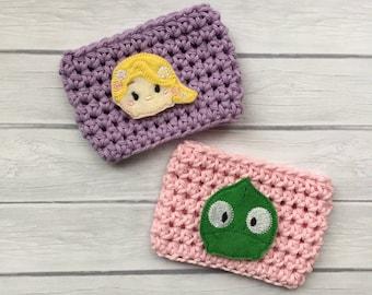 Princess cup cozy, princess gift, princess lover, princess party, pink coffee cozy, coffee cup cozy, coffee cup sleeve, crochet cozie, cozy