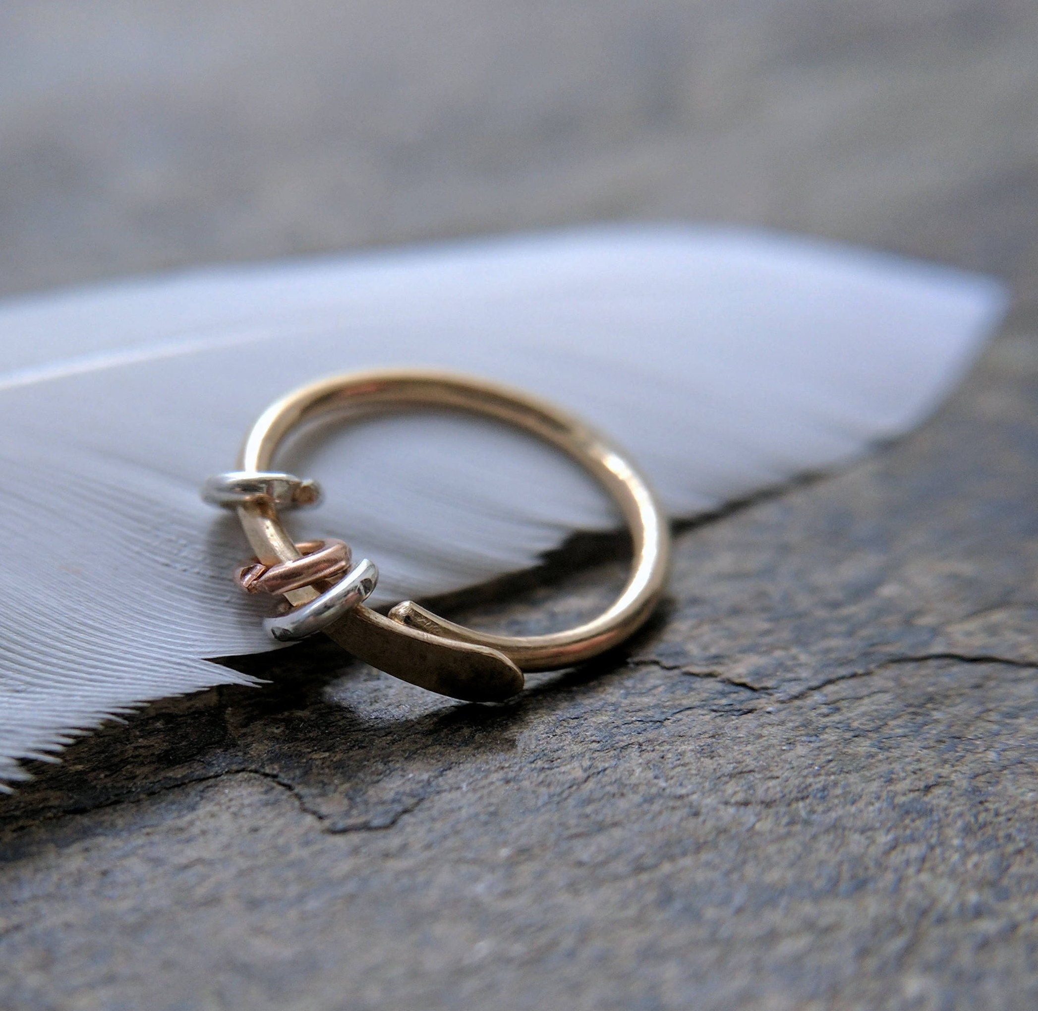 A   G Copper Ring At   Has Inner Diameter
