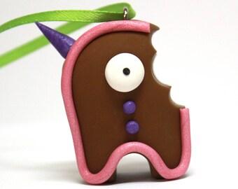 Timid Gingerbread Ornament