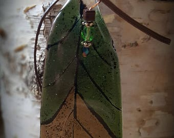 Fused Glass Feather Art