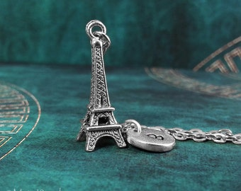 Eiffel Tower Necklace Eiffel Tower Charm Necklace Paris Travel France Necklace French Jewelry Eiffel Tower Pendant Necklace Personalized
