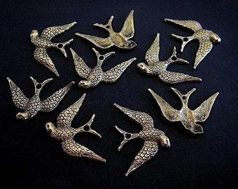 10 - Antique Gold - Bird Charm (AGBC)