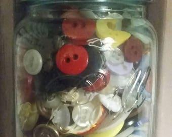Button mason jar votive holder