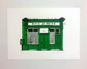 Oifig an Poist - Irish Post Office - Screenprint