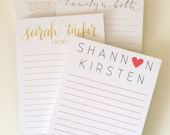 Custom Note Pads- Personalized / Logo