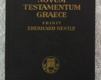 novum testamentum graece edidit eberhard nestle, Bible. English and German