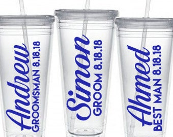 Wedding Party Tumblers,Groomsmen Tumbler,Best Man Gift,Groomsmen Gift,Best Man Tumbler, Groomsmen set, Wedding Party Glasses, Tumbler,