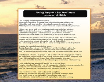 Finding Refuge in a Soul Mate's Heart - Printable Digital Download