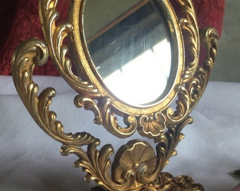 Small vintage ornate gilt mirror