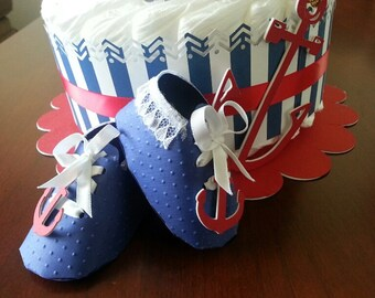 Nautical Baby Boy Shoe Favors / Nautical Shower Favors